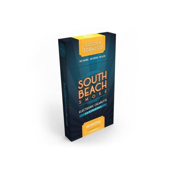SOUTH BEACH SMOKE Golden Tobacco Refill Cartridges Pack of 5